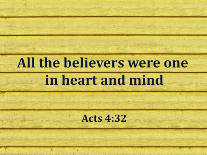 Acts ch 4 v 32-35