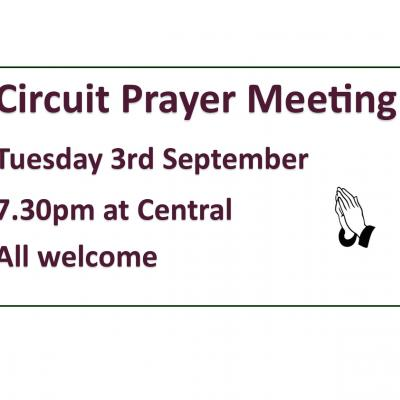 Prayer Meeting Notice
